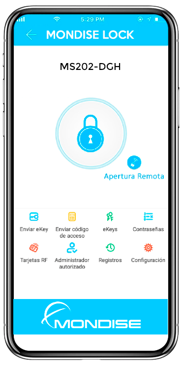 App-mondise cerraduras electronicas